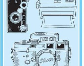"Inkadinkado-Camera Clear Stamp Set- 4"" x 8"" 6 pieces"