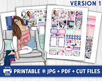 ME TIME to the MAX Light Printable Planner Stickers/for use with Erin Condren/Weekly Kit/Cutfiles/Lazy Fashion Pamper Spa Recollections