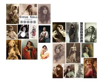 Gypsy Girls Digital Collage Sheet
