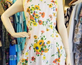 Long tunic 70s/vintega tunic, 70s blouse/1970 's blouse/blouse floral/floral blouse/Hippie Tunic