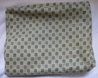 Green and off white Checkerboard Fabric 1 yard