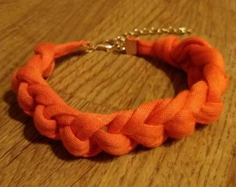 Orange Crochet Bracelet