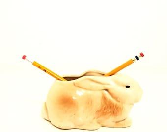 Lapin Planter.Rabbit.Planter.Vintage.Easter.Antique.Easter Decor.Spring.Vase.Bunny