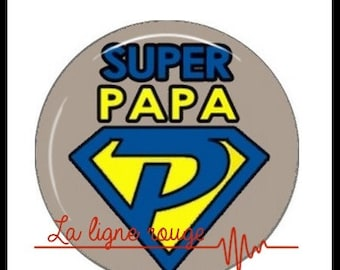 Super Dad (1913) Cabochon with or without stand depending on your choice - text, celebrate fathers day, father