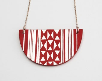 KILIM Necklace Burgundy