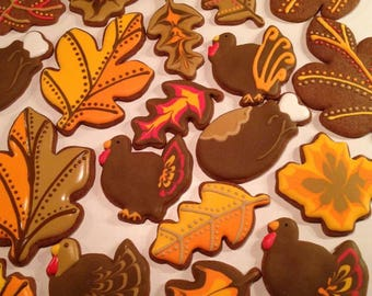 Thanksgiving Sugar Cookies (One Dozen)