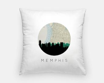 Memphis skyline pillow | Memphis art pillow | Memphis map pillow | Memphis Tennessee pillow | Memphis TN pillow | Memphis home decor