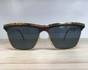 Police brand gold and brown tortoise vintage sunglasses