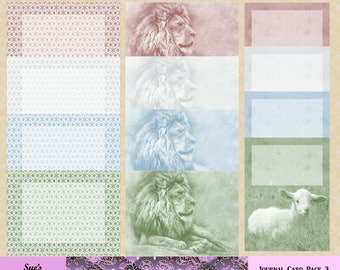 In Like a Lion, Out Like a Lamb journal card pack 3