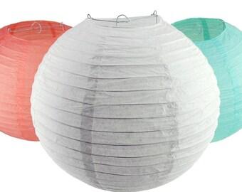 Round Paper Lantern Hanging Decor, 10-Inch