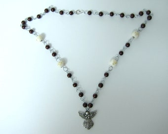Hand wired angel necklace