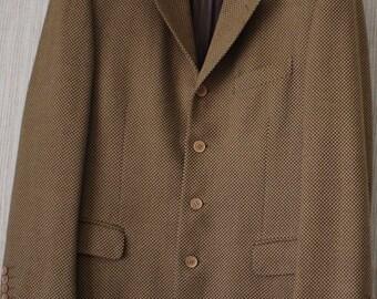 MENS SALE 1940s men's brown herringbone wool blazer/ 40s men's brown herringbone wool blazer/ Witkowski 98EjkW4Q