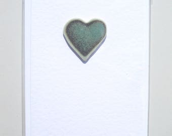 Greetings card with heart tile. Feel the love.