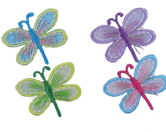 Dragonflies Embroidered Iron On Appliques