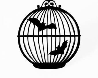 Bats in the Birdcage Necklace
