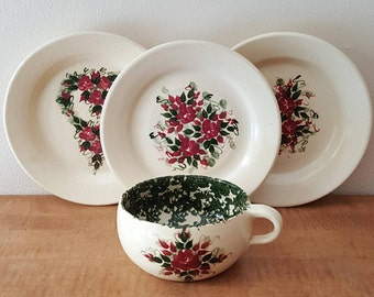 Vintage Pottery Set by Marshall Pottery  East Texas Pottery Co