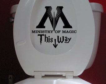 Ministry of Magic Decal Vinyl Sticker - Bathroom Toilet Decal