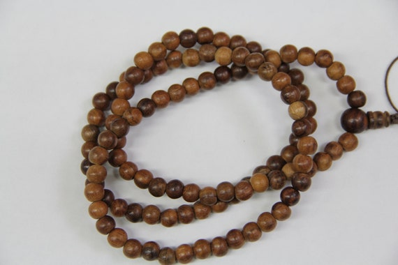 "Date Wood 8mm round beads, 108 pcs, 32"" long full strand"
