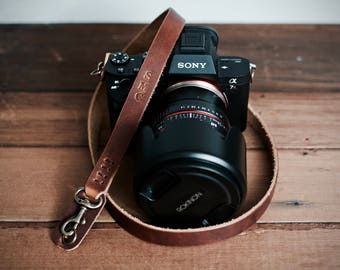 Camera Strap, Customized Wrist Strap, Leather Camera Strap, Thin Camera Strap, Customized Gift, Handmade