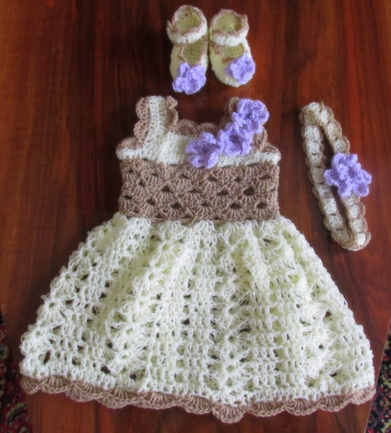Crochet Pattern Girl Dress Pattern Shoes Hat Pattern Crochet