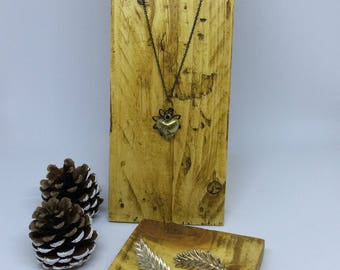 Wood Necklace Display, Rustic Necklace Display, Jewellery Stand, Necklace Display Stand, Craft Fair Jewellery Display, Handmade, Pine Stand