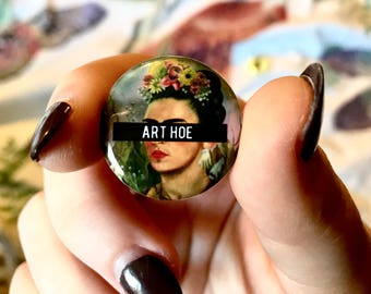 FRIDA ART HOE pinback button
