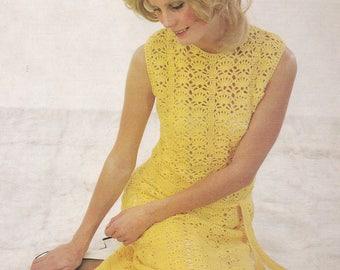 PDF crochet dress vintage crochet pattern pdf INSTANT download pattern only pdf