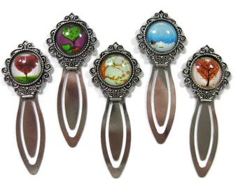 Tree Glass Cabochon  Book Mark Choose One (S7)