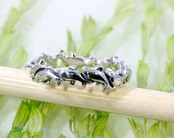 Dolphin ring 925 sterling silver