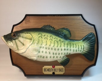 Vintage Original Big Mouth Billy Bass Singing Fish-Works Great-1999