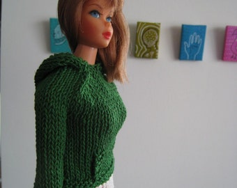 Barbie Doll Knitting Pattern, Hoodie, Kangaroo Jacket