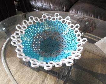 Decorative bowl Home decor Paper art Qulled bowl Modern home decor Contemporary style