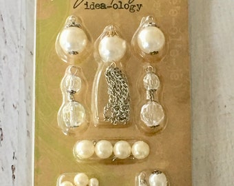 Baubles, Tim Holtz, Ideaology, 19 pc, papercrafting, mixed media, jewelry making, art journaling, scrapbooking, card making, art assemblage