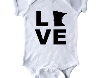 Love Minnesota Infant Creeper by Inktastic