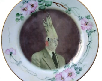 Mr. Gary Tiel  - Altered Antique Plate 6.5""