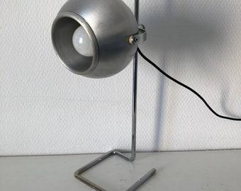 Lamp eyeball steel editor Disderot vintage 1960's