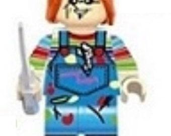 CHUCKIE! Childs Play Chucky Custom Minifigure 100% Lego Compatible!