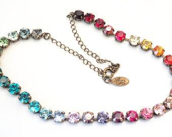Swarovski Crystal Necklace - Multi Color