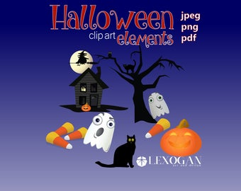Halloween Clip Art Elements