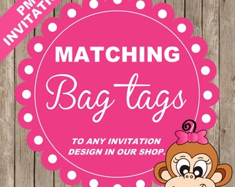 Matching Bag Tags to ANY invitation design in our shop