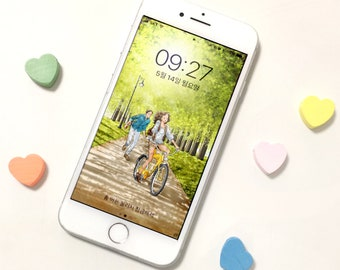Personalized iPhone wallpapers, Cell Phone Screensaver, Android Wallpaper, iPhone wallpapers,illustration, sunny days, yalzza