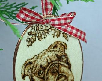 English Bulldog Ornament,  Bulldog Gift, Bulldog Gift Topper, Bulldog Ornaments