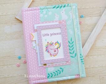 Baby Book Girl, Baby Memory Book Girl, Baby Album, Baby Shower Gift, Newborn Gift, Scrapbook Album, Baby 1st Book, Baby Scrapbook, Baby Gift