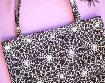 Glow-in-the-Dark Spiderweb Tote