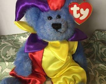 Calliope the TY Jester Teddy Bear