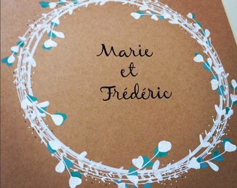 Personalized Wedding guest book -  A5 or A4