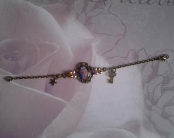 Princess girl on a chain bracelet