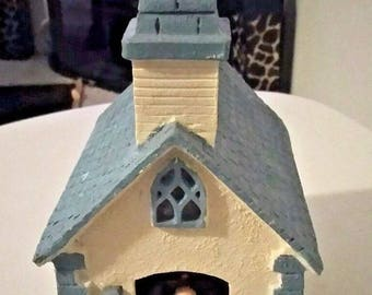 Chinese Craftsman Church Priest Wind Up Music in Motion Church Music Box