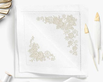 Set of Machine Embroidery Designs Lace Roses