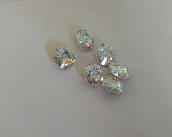 White Patina Swavorski Crystals